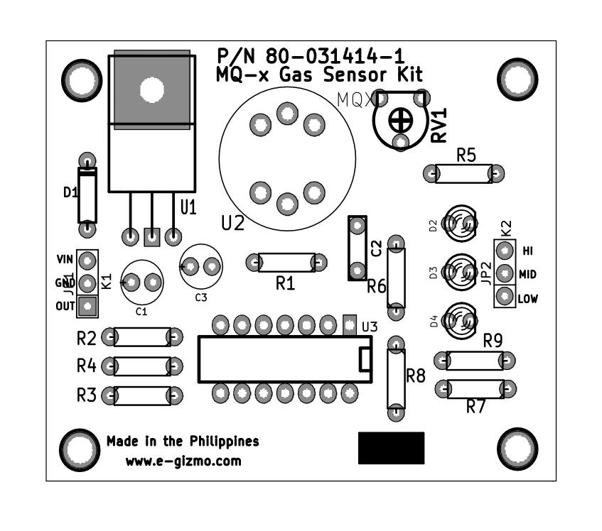 gas sensing  gas leak sensor kit   mq